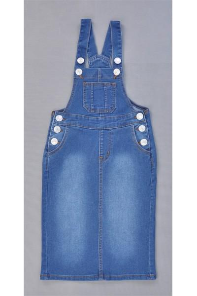 GIRLS Bree Denim Overalls (Indigo)