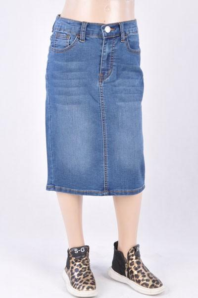 GIRLS Emily Wash Denim Skirt (Indigo)