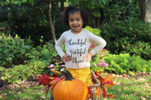 GIRLS Thankful Sweater (Ivory)