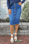 Lexi Denim Skirt (Indigo)