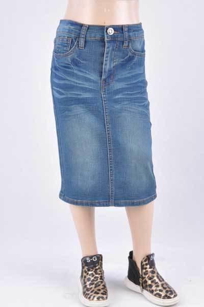 GIRLS Emily Wash Denim Skirt (Vintage)