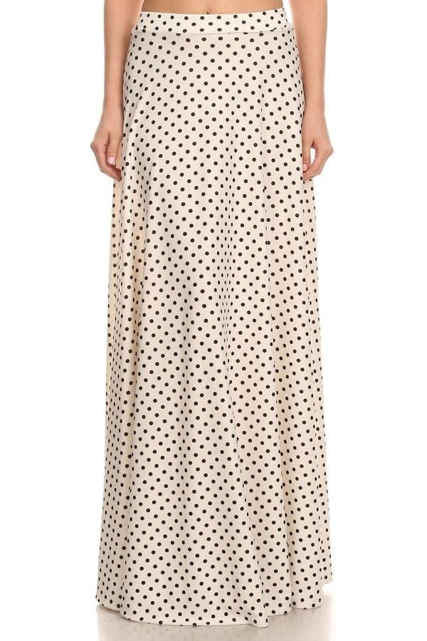 Polka Dot Maxi Ball Gown (White)