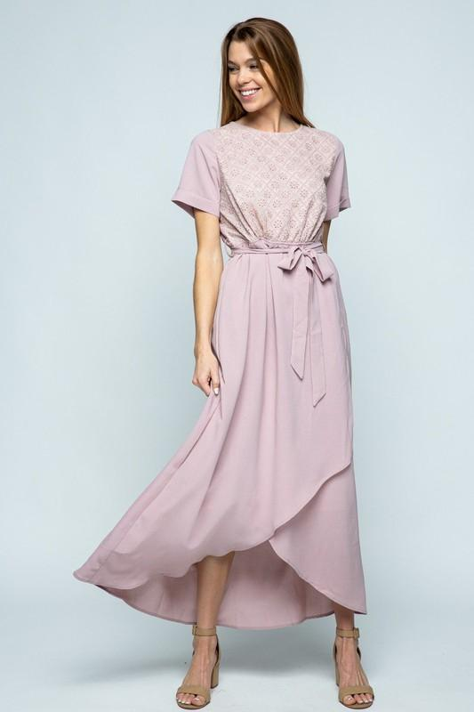 Scarlett Lace Maxi Dress (Lavender)