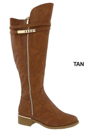 Let It Snow Boots-Tan