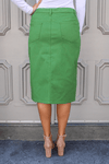 JDA Kelly Green Denim Skirt
