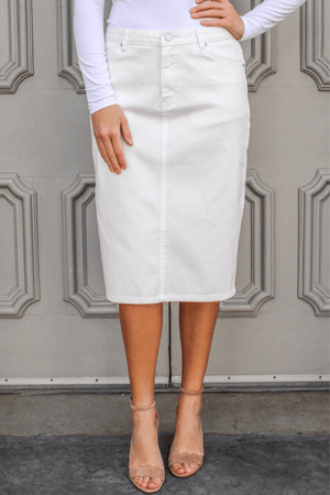 JDA White Denim Skirt