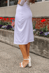 "27"" White Ultra Comfort Ponte Knit Skirt"