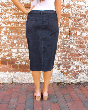 "27"" JDA Black Denim Skirt"