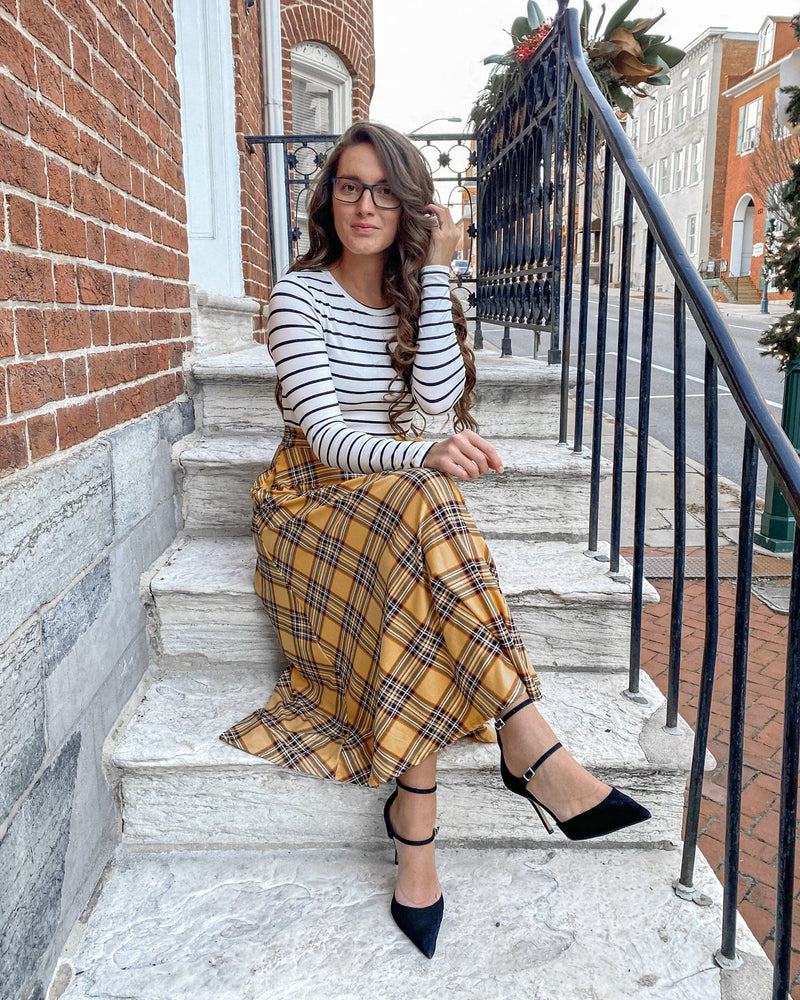 Christina Plaid Midi Dress