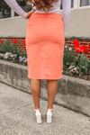 "26"" Coral Denim Skirt"