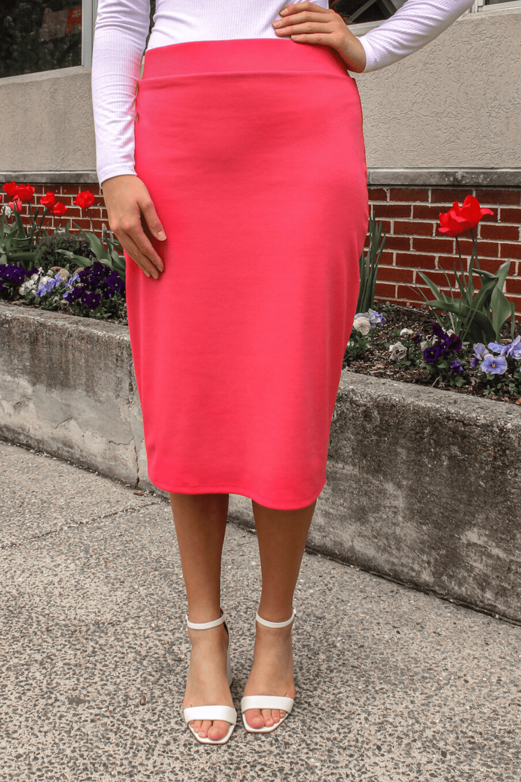 "24"" Coral Ultra Comfort Ponte Knit Skirt"