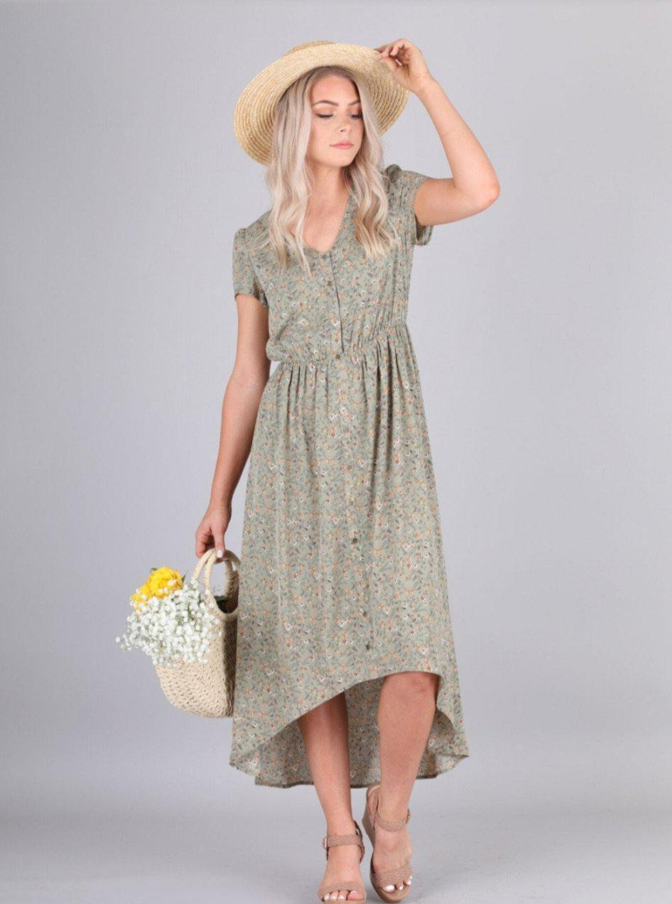 Rowan Pistachio Floral Dress