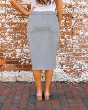"24"" JDA Heather Gray Denim Skirt"