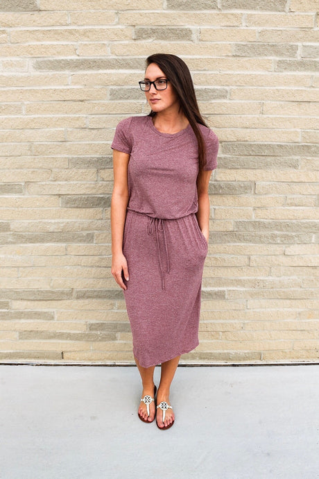 Two-tone Lounge Dress (Burgundy)