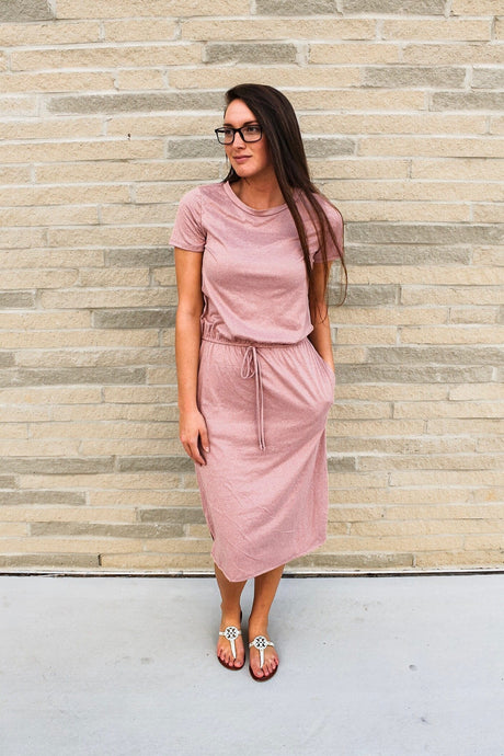 Two-tone Lounge Dress (Mauve)