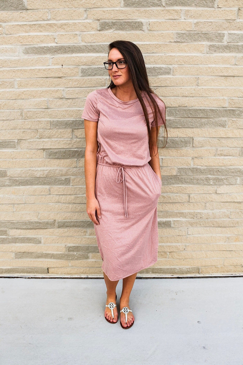 Live-in Two-tone Lounge Dress (Mauve)