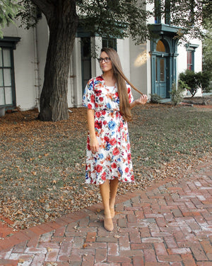 Roses in Autumn Ruffle Dress