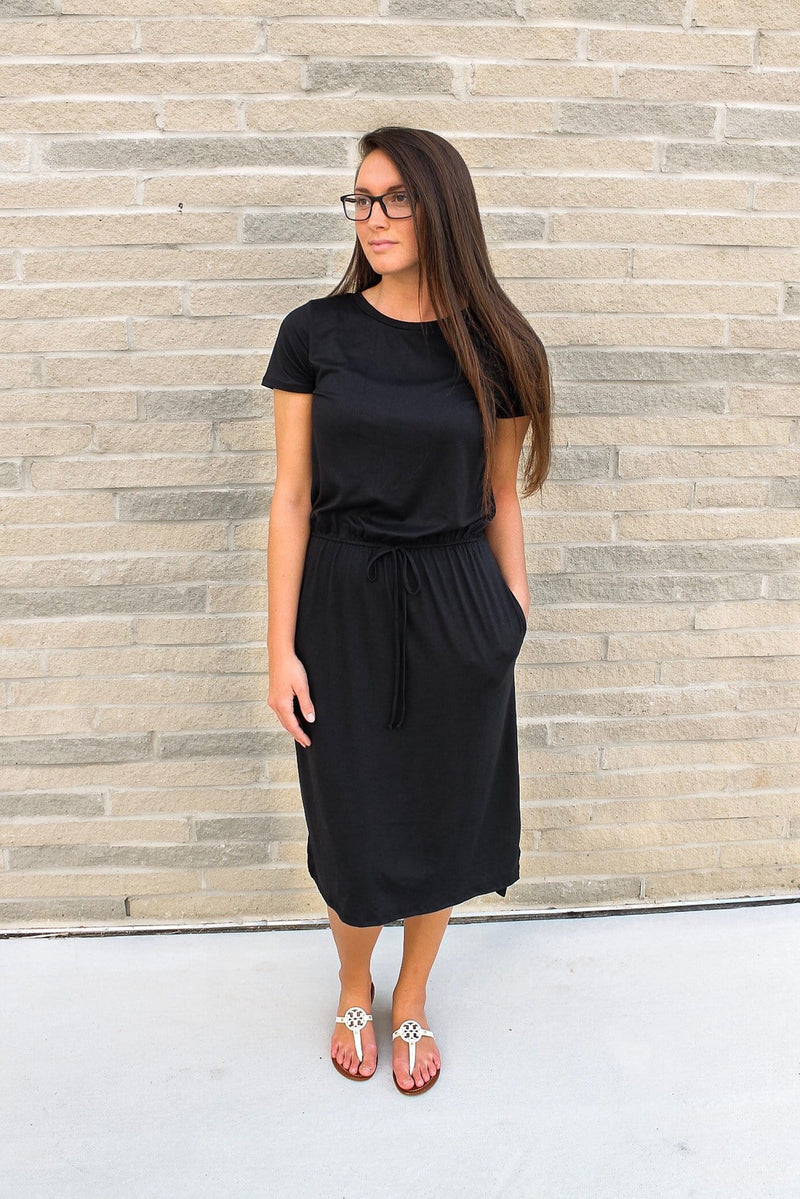 Live-in Lounge Dress (Black)