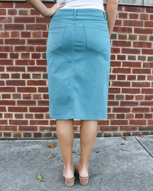 "26"" Jade Denim Skirt"