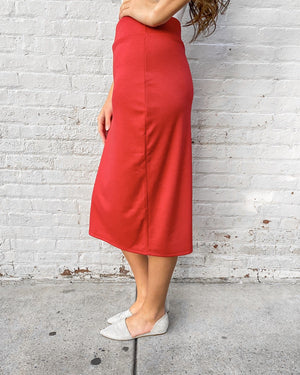 "24"" Red Ultra Comfort Ponte Knit Skirt"