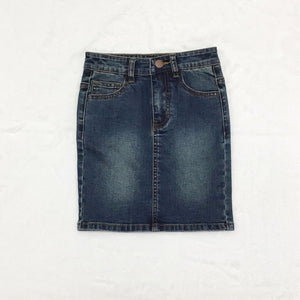 GIRLS Khloe Denim Skirt (Dark Wash)