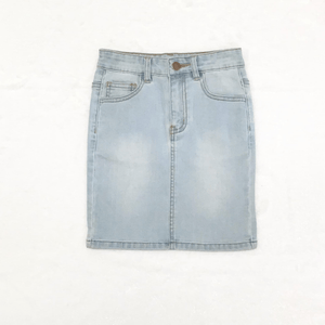 GIRLS Khloe Denim Skirt (Light Wash)