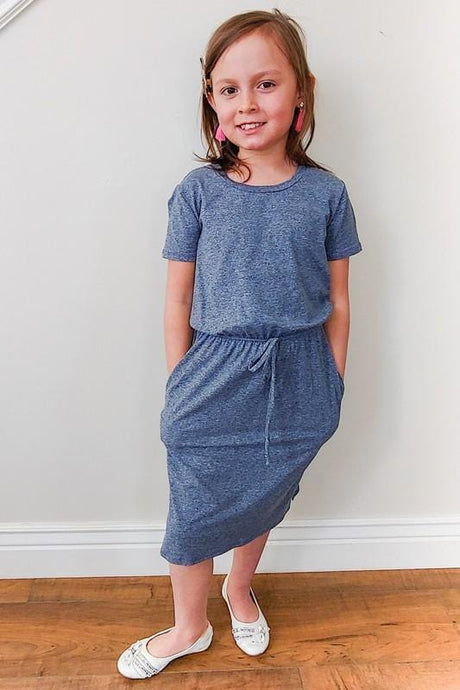 GIRLS Two-tone Lounge Dress (Blue)