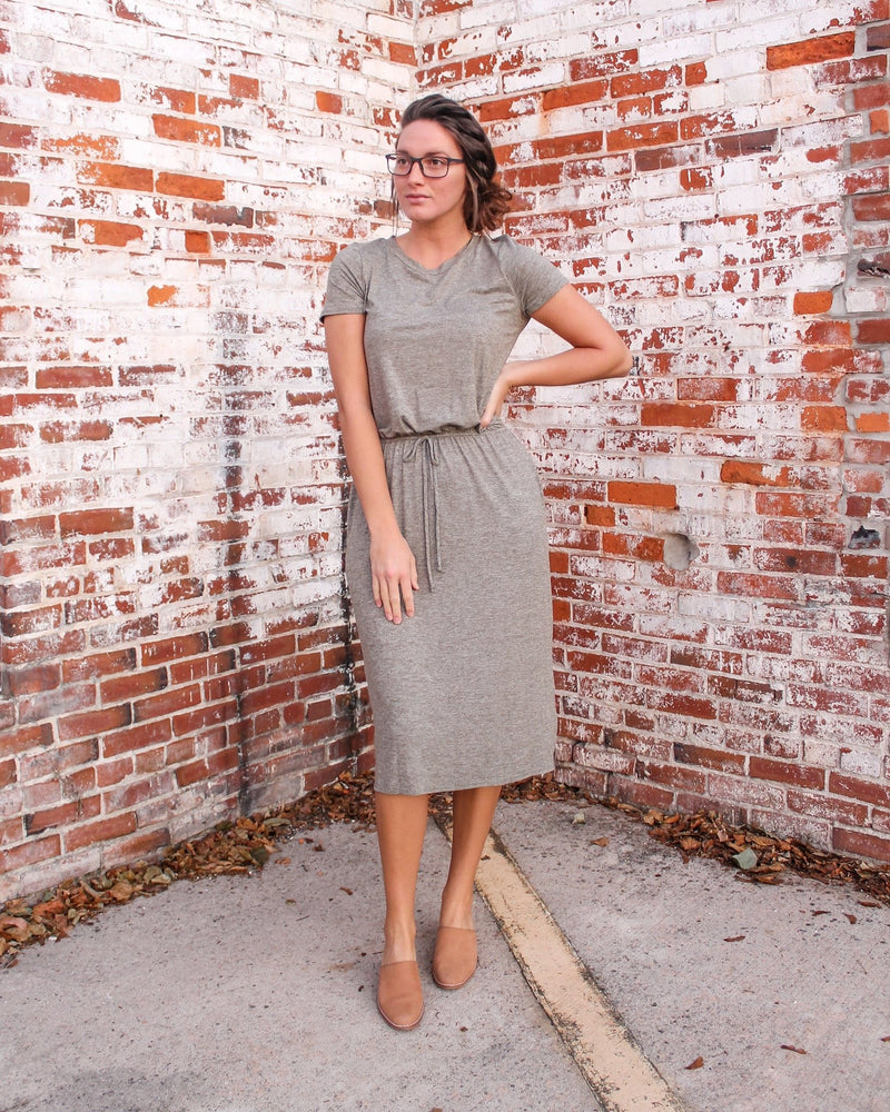 Live-in Two-tone Lounge Dress (Olive)