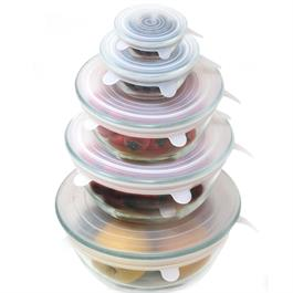 Danesco Silicone Stretch Lids-Set of 5-Assorted Sizes