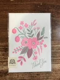 Rifle Paper Co. Thank You Card-Rosy Thank You