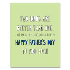Near Modern Disaster Father's Day Card-Two Dads