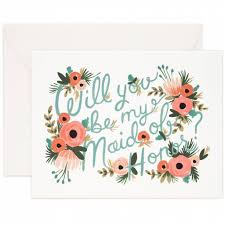Rifle Paper Co. Wedding Card-Maid of Honor