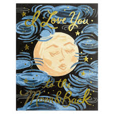 Rifle Paper Co. Wedding Card-To the Moon and Back