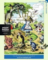 New York Puzzle Company 1000 Piece Puzzle-Alice in Wonderland