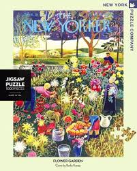 New York Puzzle Company 1000 Piece Puzzle-Flower Garden