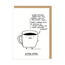 Ohh Deer Blank Card-Bitter Coffee