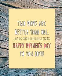 Near Modern Disaster Mother's Day Card-Two Moms