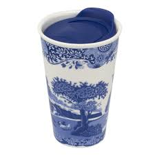 Spode Travel Mug-Blue Italian