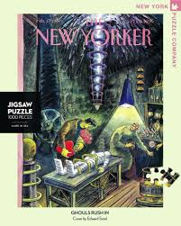 New York Puzzle Company 1000 Piece Puzzle-Ghouls Rush In