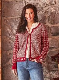 April Cornell Cardigan-Alpine-Red
