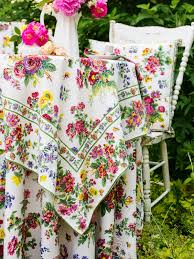 April Cornell Artist Garden Tablecloth-Ecru