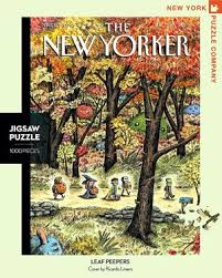 New York Puzzle Company 1000 Piece Puzzle-Leaf Peepers