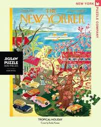 New York Puzzle Company 500 Piece Puzzle-Tropical Holiday