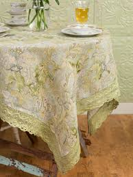 April Cornell Tablecloth-Jacob's Court-Green