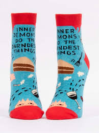 Blue Q Women's Ankle Socks-Inner Demons Do the Darndest Things
