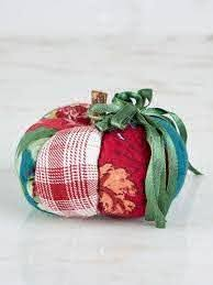 April Cornell Pin Cushion-Pumpkin