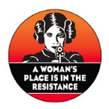 Ephemera Button-A Woman's Place is in the Resistance