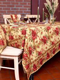 April Cornell Tablecloth-Cornwall Cottage-Gold