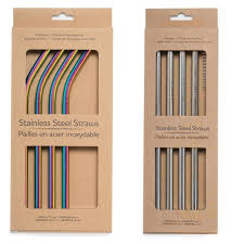 Life Without Waste Stainless Steel Straw Set