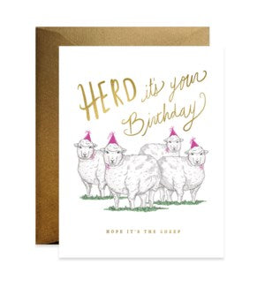 Good Juju Ink Birthday Card-Herd Birthday